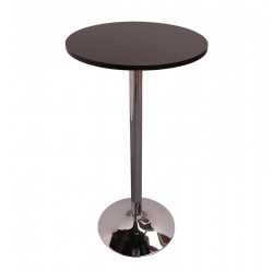 BAR TABLE-Ø60 CM CHROME BLACK