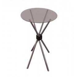 BAR TABLE-Ø75 CM GLASS