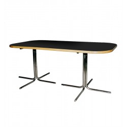 TABLE-BOARDROOM 180 CM BLACK