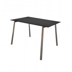 TABLE-DESK CHROME 125 CM BLACK
