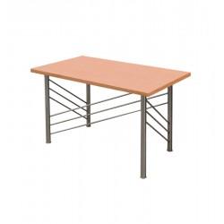 TABLE-DESK INOX 125 CM WOODEN