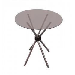 TABLE-Ø110 CM GLASS