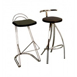 BAR STOOL- CANVAS UPHOLSTERED